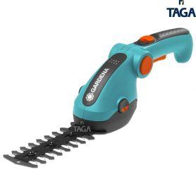Akumulatorowe nożyce do cięcia krzewów i brzegów trawnika Gardena ComfortCut Li - zestaw