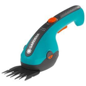 Akumulatorowe nożyce do cięcia krzewów i brzegów trawnika Gardena ClassicCut Li - zestaw